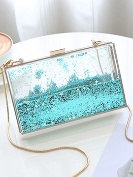 Euro Sequined Chain Belt Evening Bags