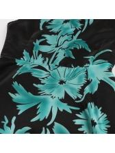 Vintage Style Floral Sleeveless Large Hem Dress