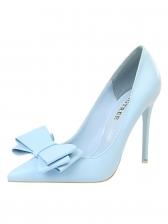 Elegant Bow Slip On Solid High Heel Shoes