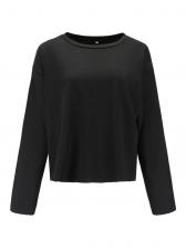 Crew Neck Loose Short Cheap T-Shirt For Women