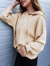 Minimalist Solid Loose Wholesale Female Hoodies