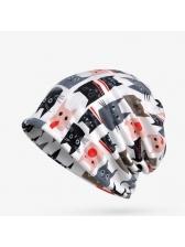 Fashion Cat Print Thicken Warm Versatile Unisex Hat