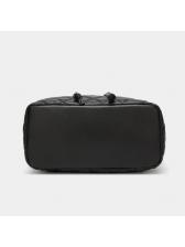 Multi-Function Diamond Pattern Black Backpack