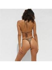 Sexy Leopard Printed Tie-Wrap Cheap Bikini