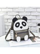 Hot Sale Panda Shape Rivets Casual Backpack