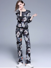 Fashionable Printed Fitted Black Woman Outfits
