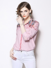 New Arrival Printing Wholesale Blush Blouse