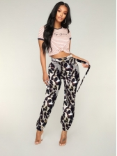 Fashion Camouflage High Waisted Trouser For Women