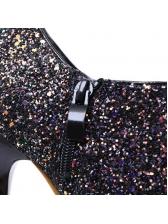 Sexy Platform Stiletto Heel Sequined Wholesale7 Shoes