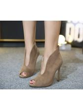 Popular Style Peep Toe Stiletto Heel Women Pumps Shoes