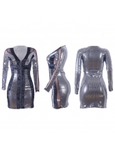 Wholesale7 Fitted Patchwork Sequined Sexy Dress For Women