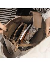 Simple Design Solid Pu Matching Shoulder Bag