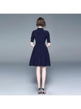 Turndown Neck Tie-Wrap Large Hem Shirt Dress