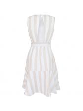 Hot Sale Striped Tie Wrap Dress For Women