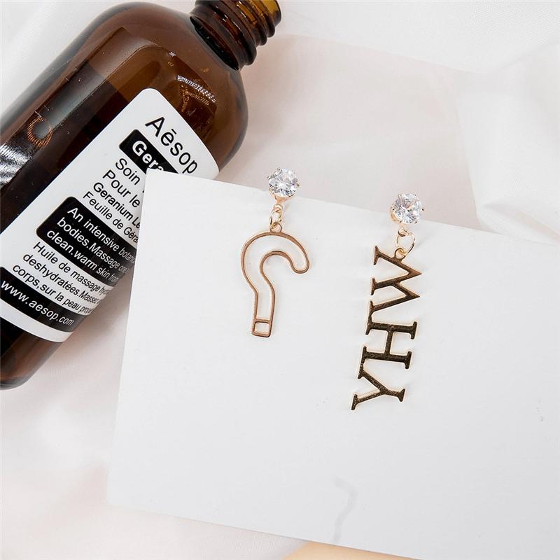 Chic Letter Asymmetrical Earring For Women