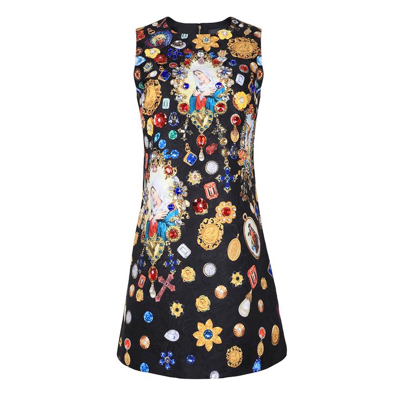 Boutique Diamond Sleeveless Black Dresses