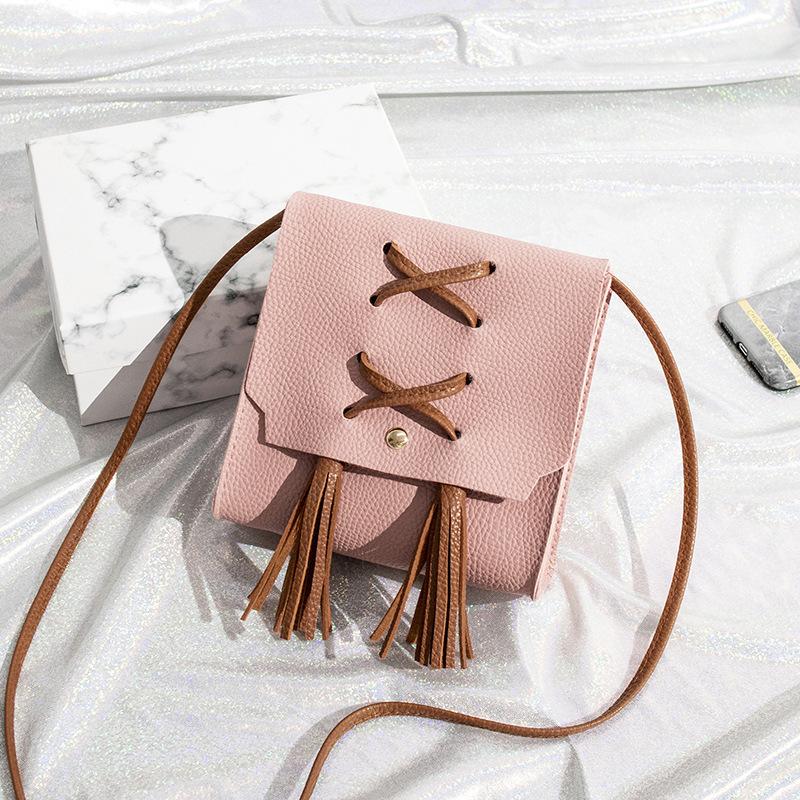 Cross Belt Tassel Decor Shoulder Bag