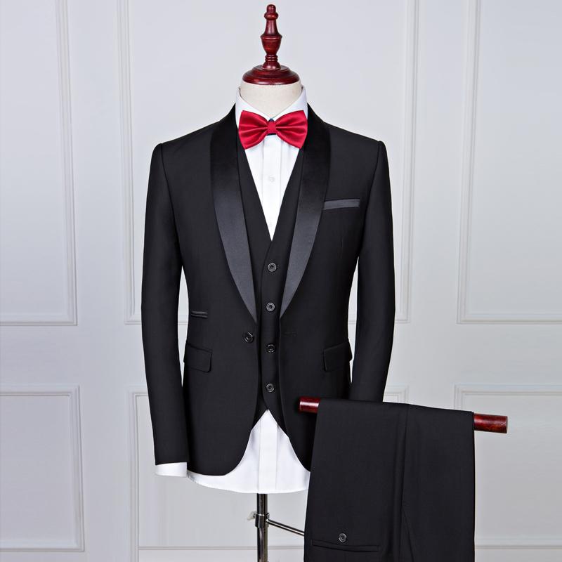 Fashion One Button Three Pieces Men Suit