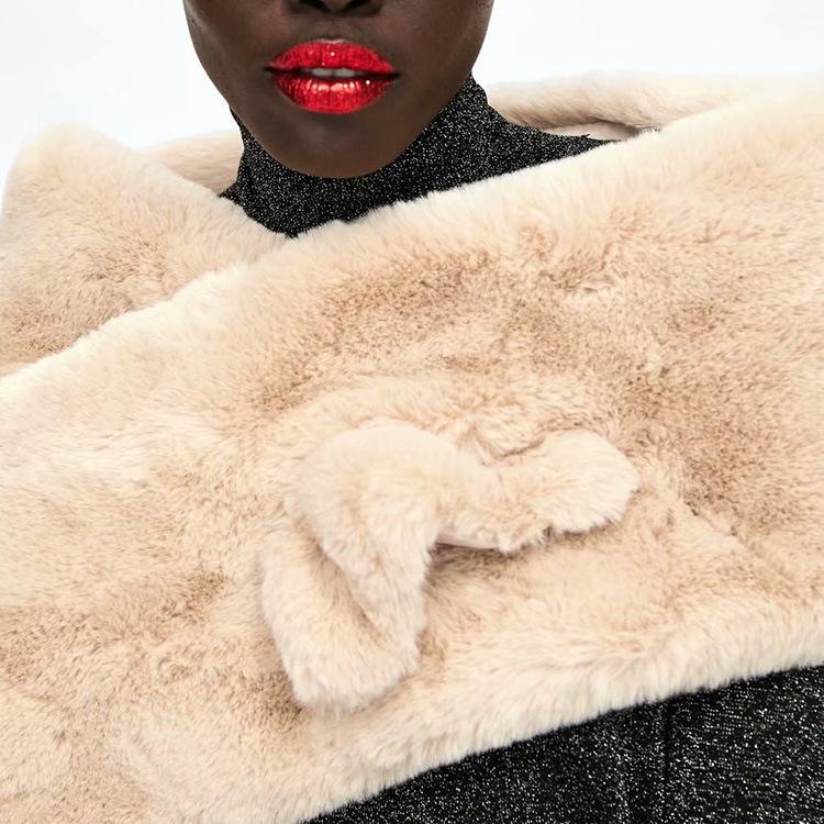 Fashion Faux Fur Soft Scarves For Women
