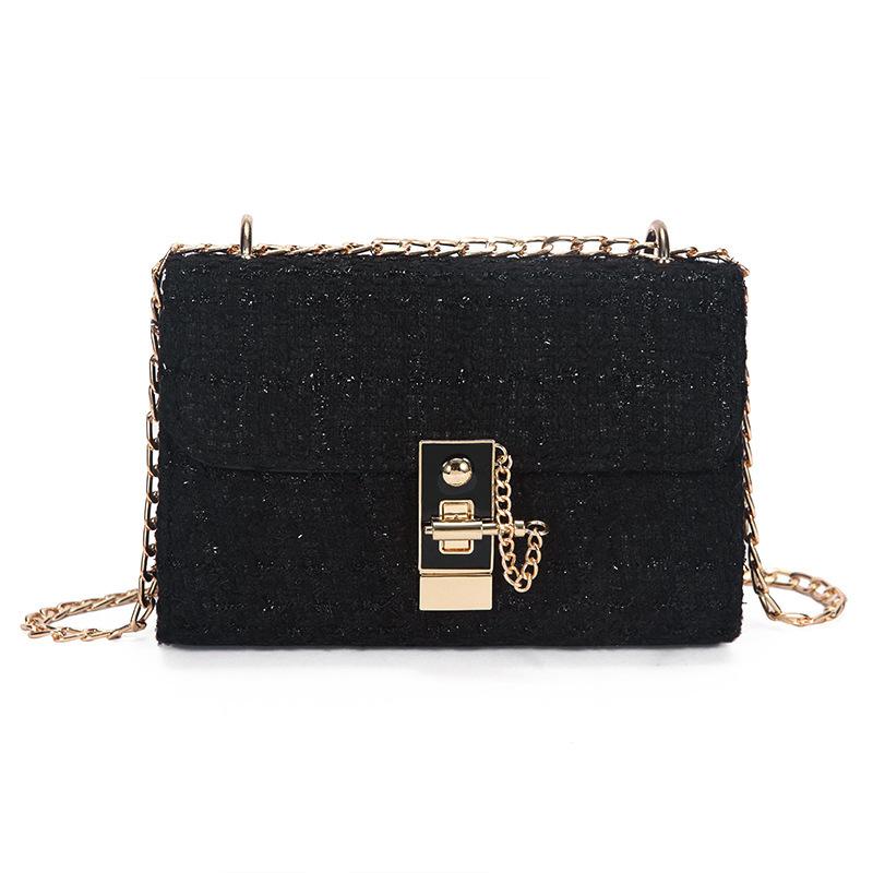 Simple Design Chain Hasp Shoulder Bags
