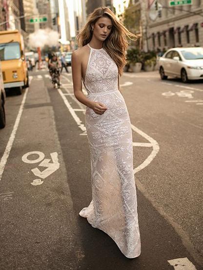 Floor Length Open Back White Maxi Dress
