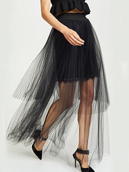 Euro Asymmetrical Gauze Maxi Dress For Women