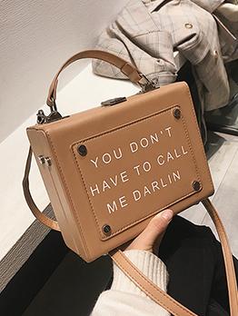Easy Matching Letter Printing Fashion Shoulder Bag