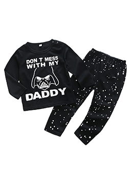 New Arrival Letter Monster Printed Baby Boy Outfits