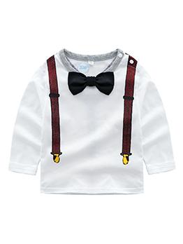 Stylish Gentle Bow Crew Neck Baby Boy T Shirt