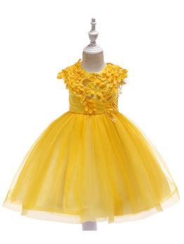 Pretty Applique Gauze Wedding Dresses For Girls