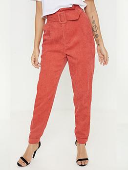 Easy Matching Corduroy Woman Long Pants
