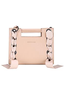 Fashion Round Ring Ribbon Square Shoulder Bag