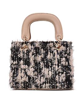 Fashion Woolen Blend Square Handbag For Women