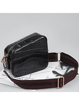Fashion Stone Grain Asymmetrical Crossbody Bag