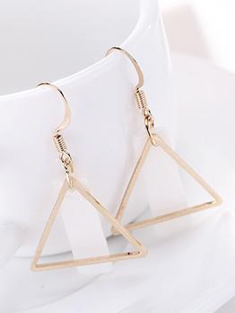 Simple Geometric Alloy Fashion Earring