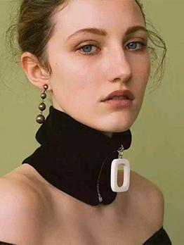 Fashion Hot Sale Knitting Zip Warm Infinity Scarf