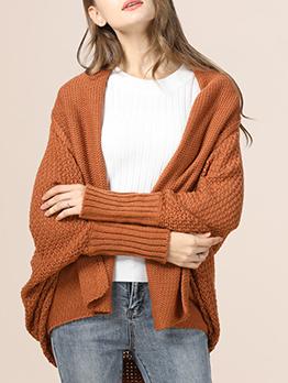 Matching Knitting Bat Sleeve Cardigan