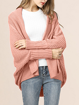 Minimalist Solid Color Warm Knitting Cardigan