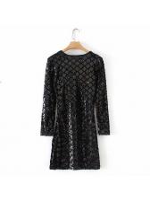 Night Club V Neck Geometric Sequin Dress