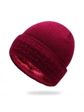 Korean Design Solid Versatile Warm Thicken Knitting Beanie