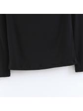 Chic Patchwork Lace Off Shoulder Black T Shirts