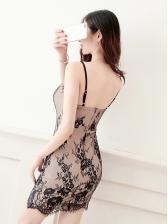 Lace Low-cut Spaghetti Strap Bodycon Sexy Dress