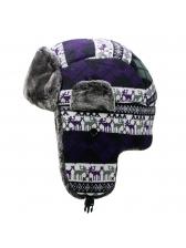 Winter Plaid Printed Warm Thicken Unisex Bomber Hat