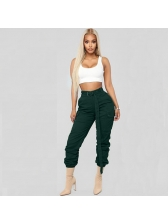 Hot Sale Solid Fitted Casual Pants With Belt