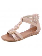 Bohemian Rhinestone Slipsole Casual Gladiator Sandals