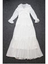 Sheer Lace Detail Tassels Tie-wrap Boutique Eveing Dresses