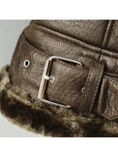 Euro Fur Pu Zipper Warm Fitted Jackets