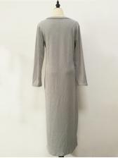 Casual V Neck Loose Maxi Dresses