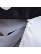 Matching Polka Dots V-Neck Wrap Blouse