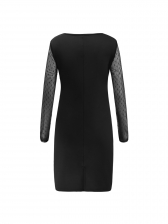 Sexy Gauze Patchwork Fitted Woman Dress